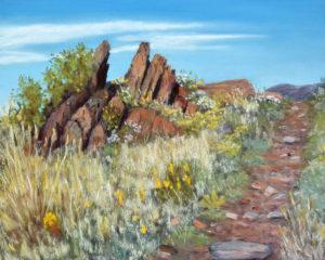Four Mile Rock, Pastel, 8x10 © Nelia Harper