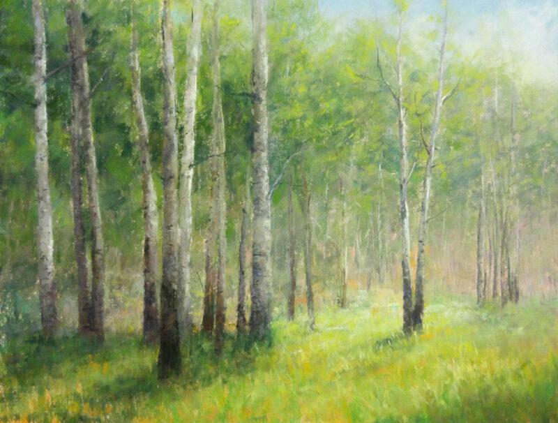 """""""Aspen Meadow"""", 11x15, Pastel, © Nelia Harper"""