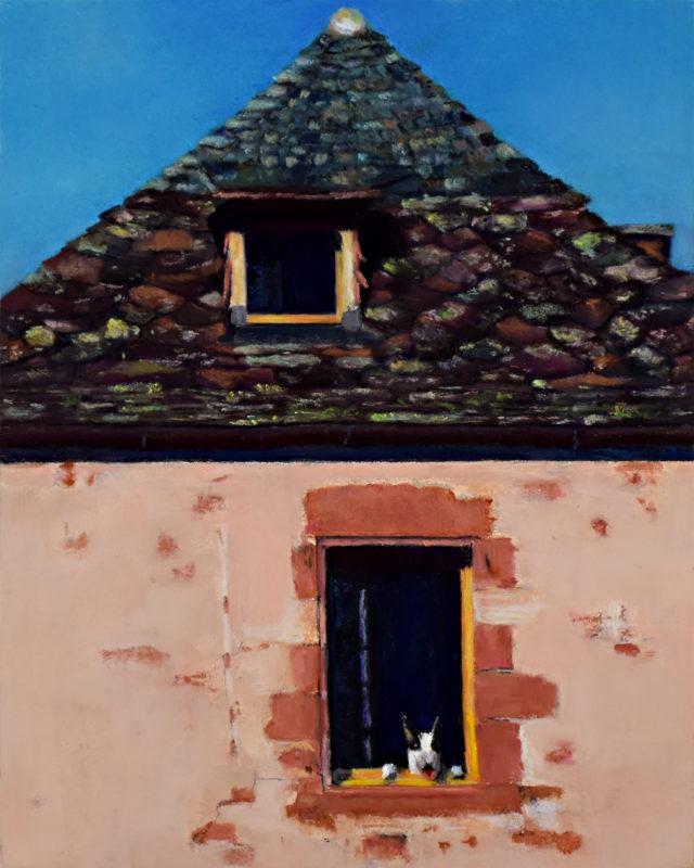 Doggie in the Window 10x8 Pastel © Nelia Harper