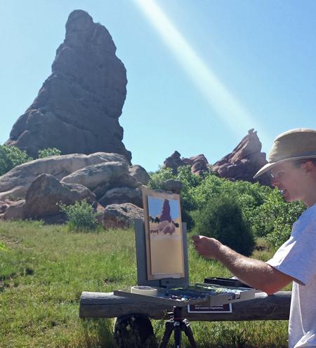 Aaron Schuerr Demonstrating a Backlit Rock