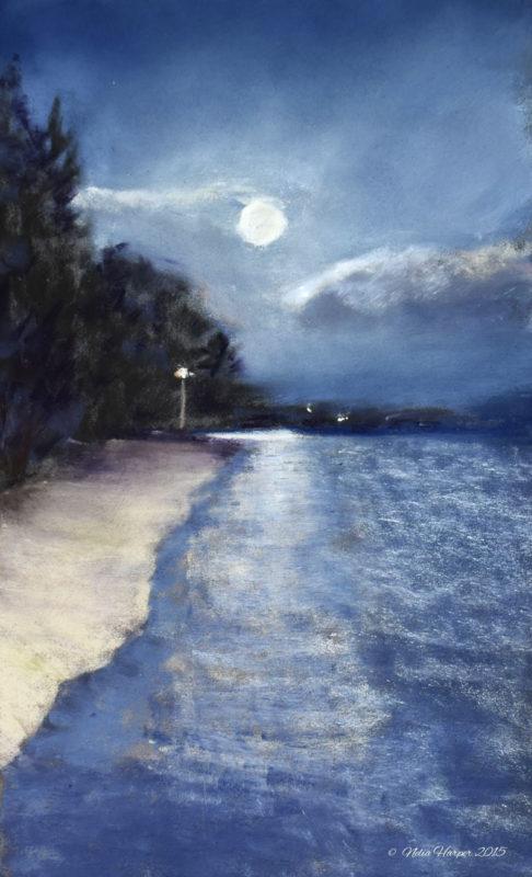 Moondance #1 Pastel 9x6 © Nelia Harper 2015