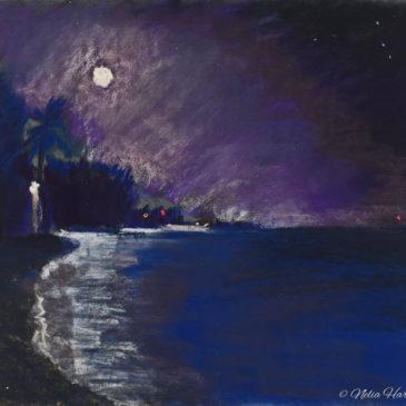 Moondance #2 Pastel 10x12 © Nelia Harper 2015