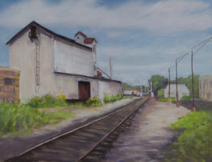 """Loveland Feed and Grain"" - Pastel - 12x16 © Nelia Harper"