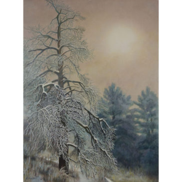 """Into the Fog"" Egg Tempera Painting"