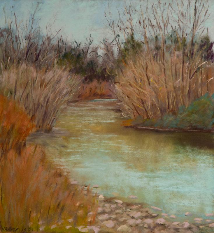 """""""Cusp of Spring"""" 8.75x8.75 Pastel © Nelia Harper"""