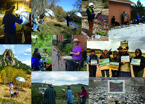 Northern Colorado Plein Air Painters on location