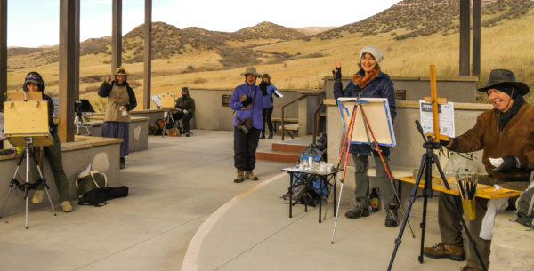 Under the 'shelter' - the Fort Collins Plein Air Artists of Colorado