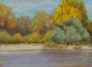 Fall Along the River 6x8 Pastel © Nelia Harper