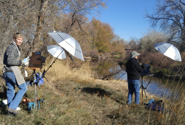 Plein Air Painters of Colorado - Kevin Aldrich and Pam