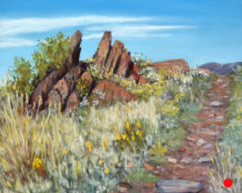 Four Mile Rock, Pastel, 8x10 © Nelia Harper