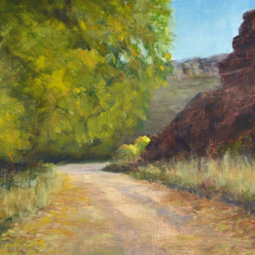 Around the Bend, oil, 8x10, landscape