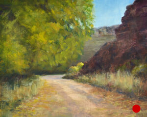 """Around the Bend"" Oil on Panel 8x10 © Nelia Harper"