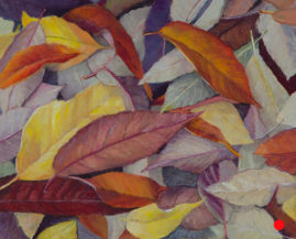 """Autumn Leaves"" 8x10 Pastel © Nelia Harper"