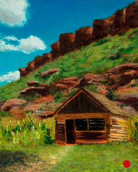 Bobcat Cabin, pastel, 10x8 © Nelia Harper