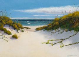 Sand Dunes 9x12 Egg Tempera on Panel © Nelia Harper