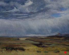 """Storm's Comin"" Pastel 11x14 © Nelia Harper"