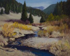 Follow Cow Creek, oil on canvas, 16x20 © Nelia Harper