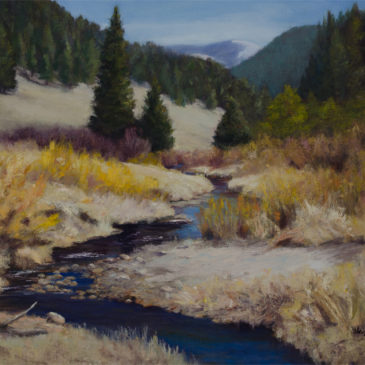 Follow Cow Creek – New Oil Painting at National Parks Art Show