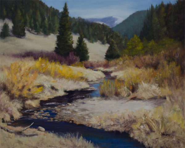 Follow Cow Creek, oil on canvas, 16x20 © Nelia Harper