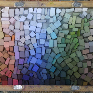 My current box of pastels for plein air painting.