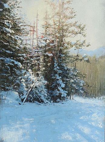 Along the Old Road, Becky Johnson, 11x8 $1150 Pikes Peak Pastel Society Award and Glaser Frames Award of Merit