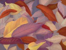 Autumn Leaves, Egg Tempera, 9x12 © Nelia Harper