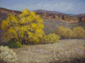 """Fall at Bobcat Ridge"" Pastel, 12x16 © Nelia Harper"