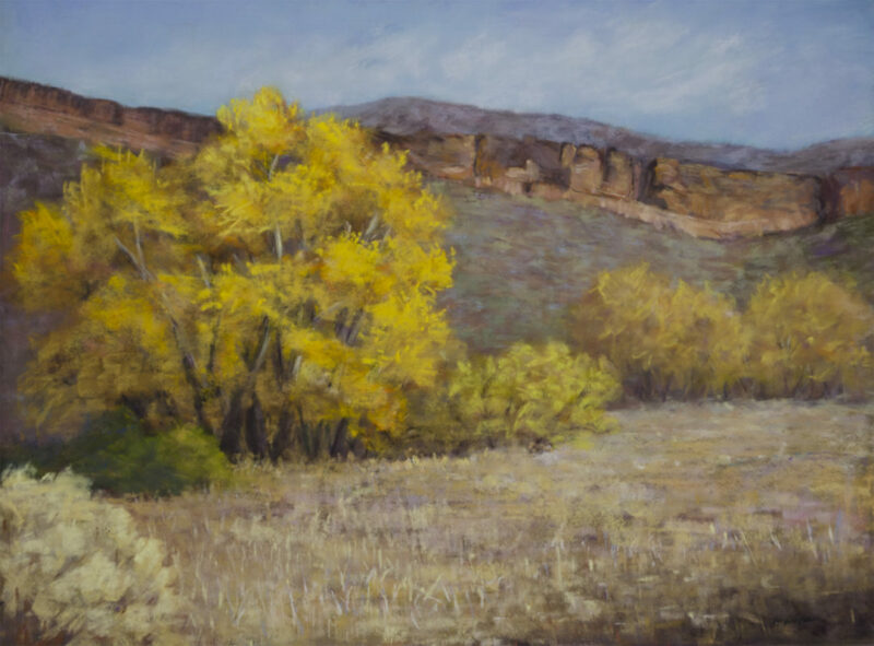 """Fall at Bobcat Ridge"" Pastel, 12x16 © Nelia Harper"