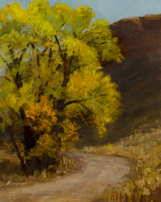 """Fall Glory"" oil on canvas panel 9x12 © Nelia Harper"