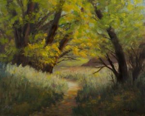 Fall Afternoon, Oil on Canvas 8x10 © Nelia Harper