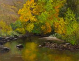"""""""Beside Still Waters"""" Oil on Canvas 8x10 © Nelia Harper"""