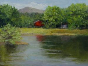 """""""Across the Pond"""" oil on panel, 9x12 © Nelia Harper"""