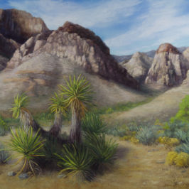 Plein Air to Studio, Red Rock Canyon, Las Vegas, Nevada