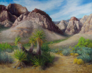 Pine Creek Canyon, Pastel on Pastelmat, 16x20 © Nelia Harper
