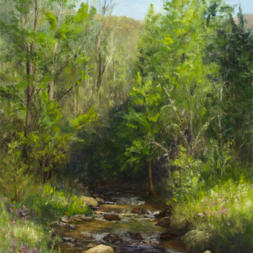 """Tributary"", Oil on Canvas Panel, 16x12, © Nelia Harper"