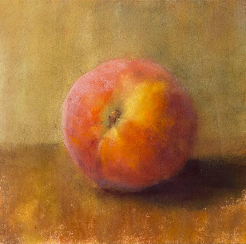 """""""Peach Study"""" 5x5, Pastel, © Nelia Harper"""
