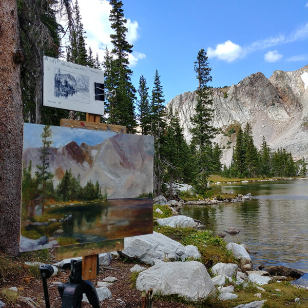 """Lake Marie"", 12x16, oil on canvas panel, © Nelia Harper"