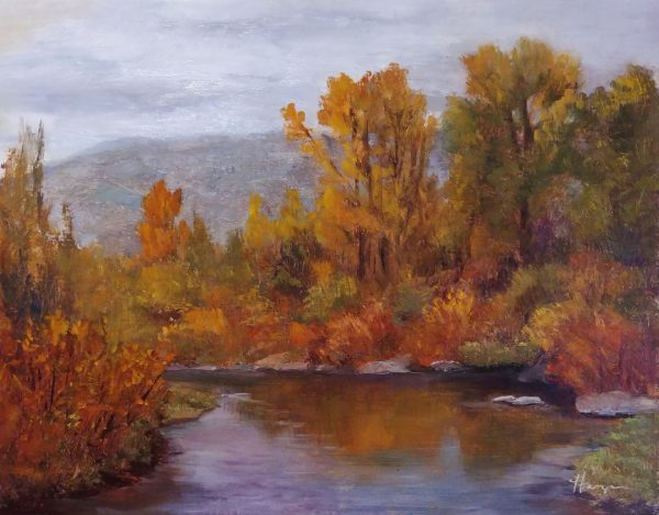 """Autumn Surge"", 11x14, oil on linen, © Nelia Harper"