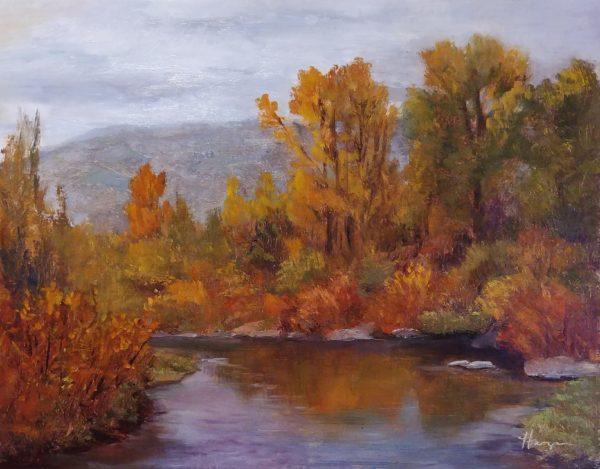 """Autumn Surge"", 11x14, oil on linen, © Nelia Harper"