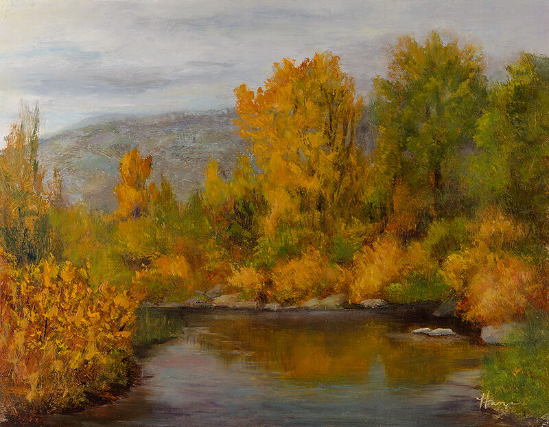 Autumn Surge, 11x14, oil on linen, © Nelia Harper