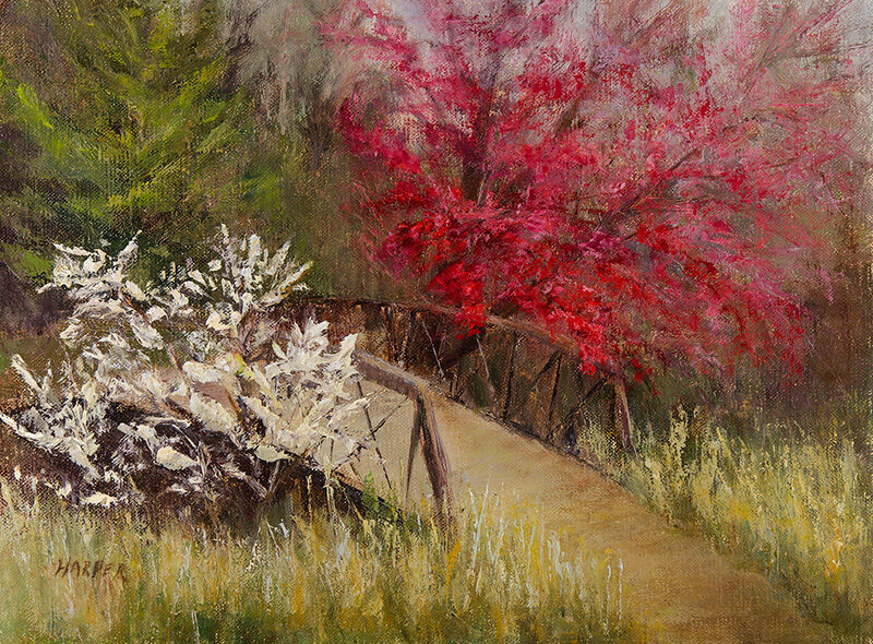 Spring is in the Air, 9x12 oil on linen, © Nelia Harper