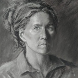 Self-Portrait – Pastel on Canson
