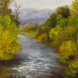Along the Yampa River, Oil on Canvas Panel, 8×10