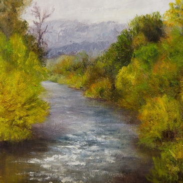 Along the Yampa, 8x10, oil on canvas panel