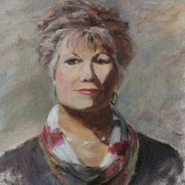 Cheryl Portrait Study 16×12 oil on linen panel
