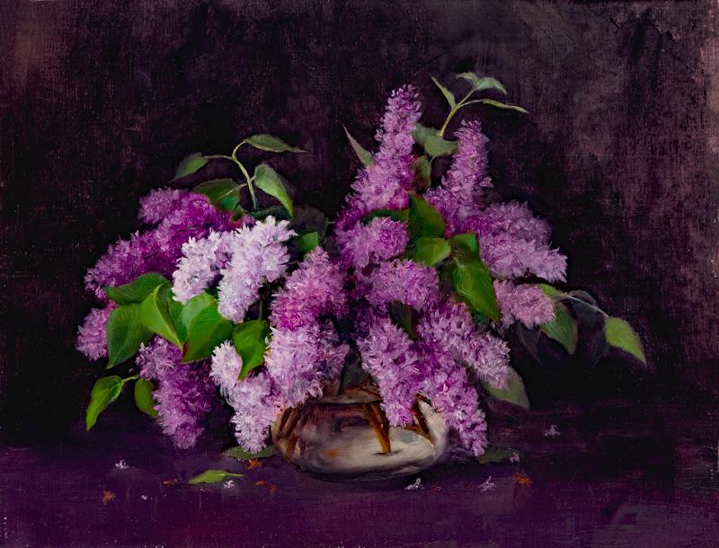 Lilacs, 16x21, oil on linen, © Nelia Harper
