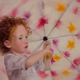 Twirling Syd, 16x22, pastel on UArt © Nelia Harper