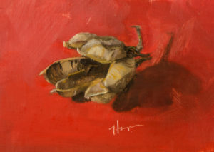 Yucca Study, 4x6, oil on linen panel, © Nelia Harper