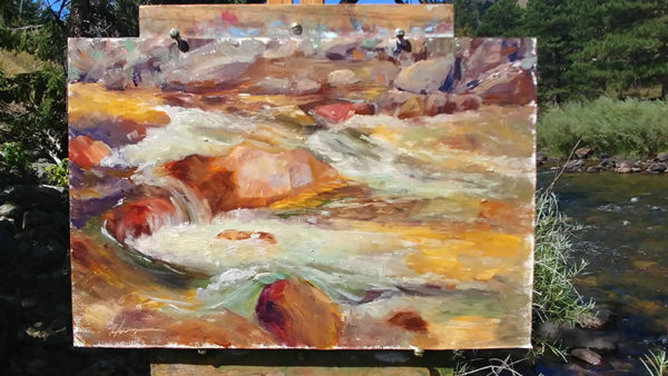 Whitewater, 8x12, oil on linen, © Nelia Harper