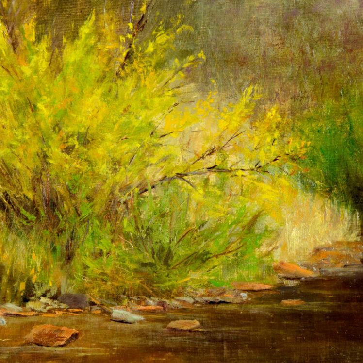 Golden Days, 8x10, oil on linen, © Nelia Harper